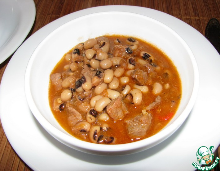 Рецепт: Фасоль с мясом на мексиканский манер