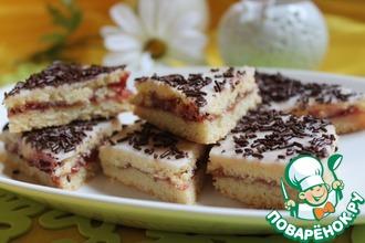 Рецепт: Печенье малиновое