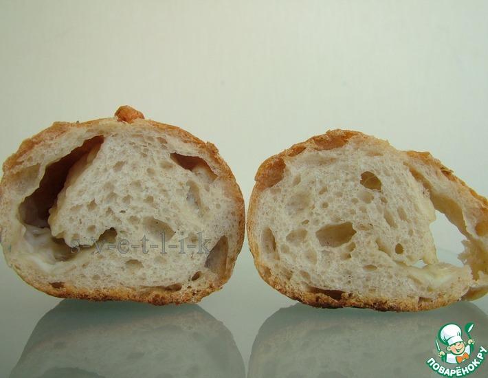 Рецепт: Хлеб на двух опарах с итальянскими сырами и травами