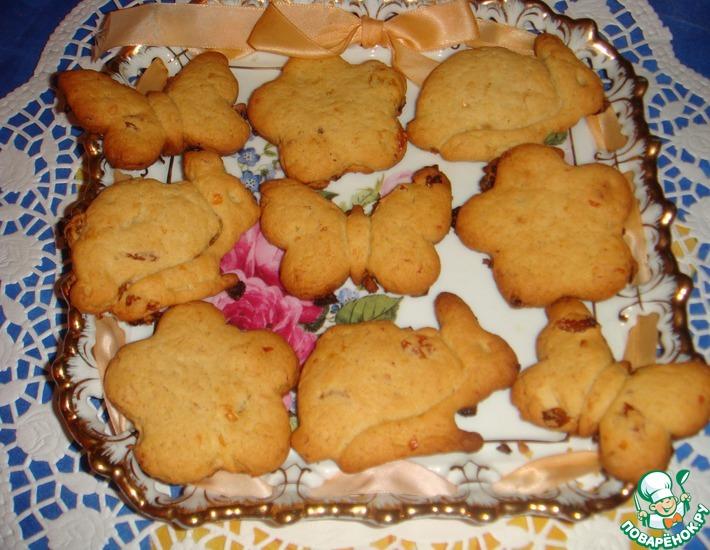Рецепт: Итальянское печенье с изюмом