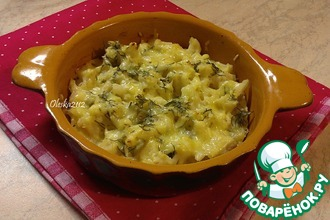 Рецепт: Цветная капуста, запечённая с сыром