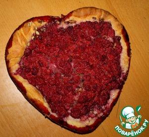 Пирог с малиной и грецким орехом – кулинарный рецепт