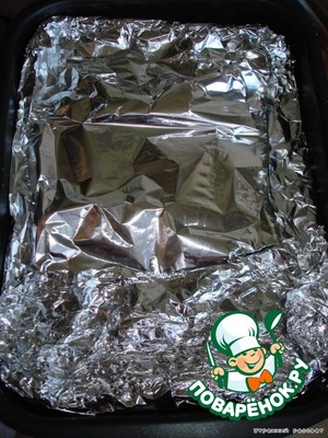 Next, close the foil on all sides