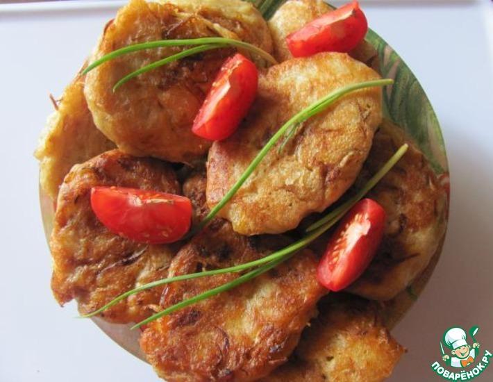 Рецепт: Постные оладьи с капустой
