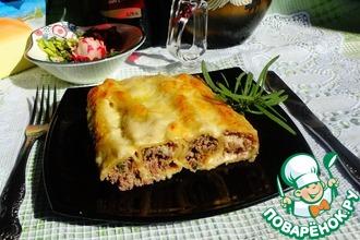 Рецепт: Каннеллони с мясом и грибами