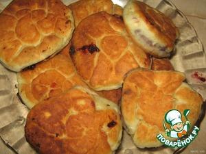 """Жареные пирожки со сладкой начинкой """"Розочки"""" – кулинарный рецепт"""