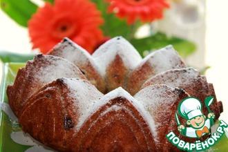 Рецепт: Туринский фруктовый пирог с вяленой клюквой