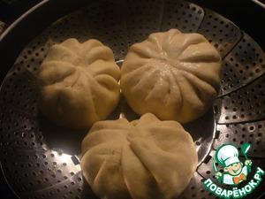 """Паровые булочки с мясной начинкой """"Никуман"""" – кулинарный рецепт"""