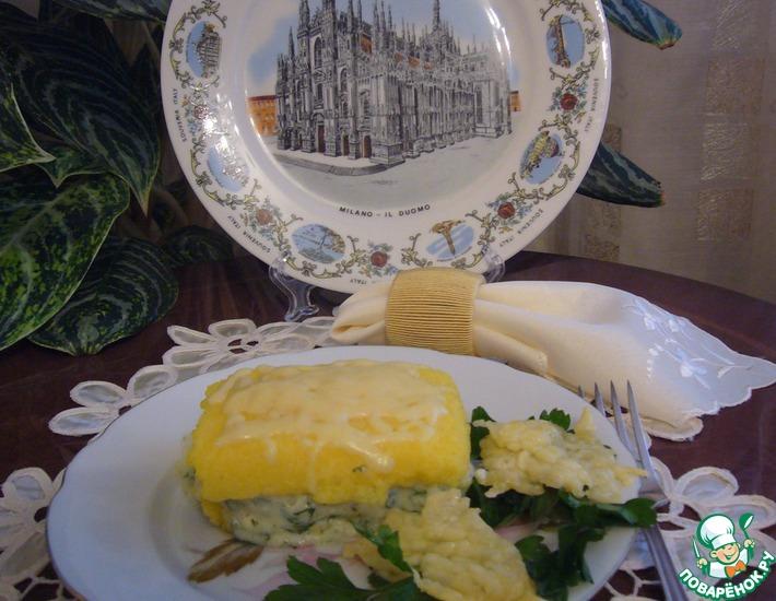 Рецепт: Полента с сыром