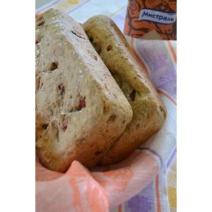Гречневый хлеб с печеным перцем
