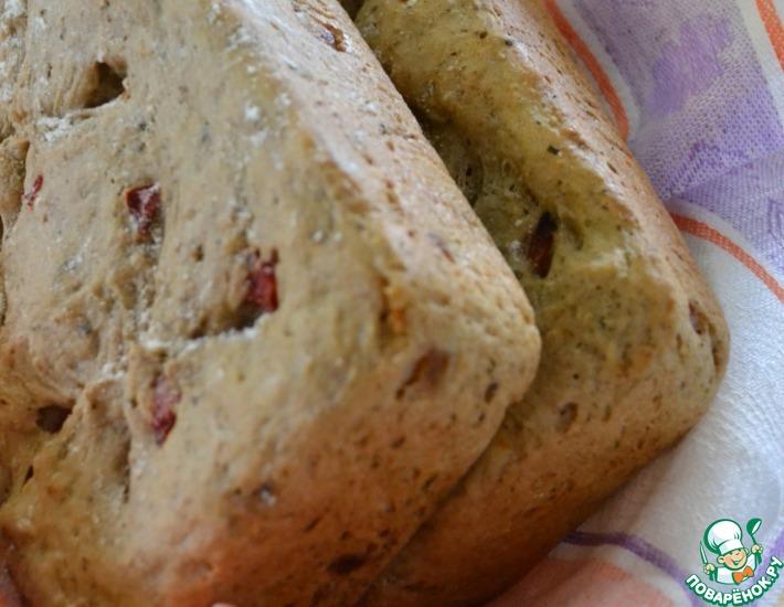 Рецепт: Гречневый хлеб с печеным перцем