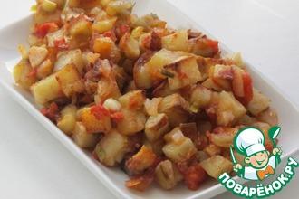 Рецепт: Картофель с чесноком и не только