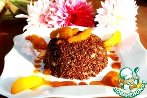 Chocolate couscous with caramelized oranges
