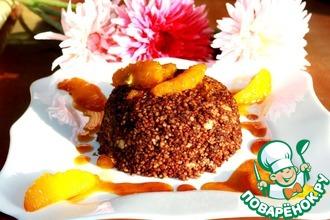 Рецепт: Шоколадный кускус с карамелизованными апельсинами