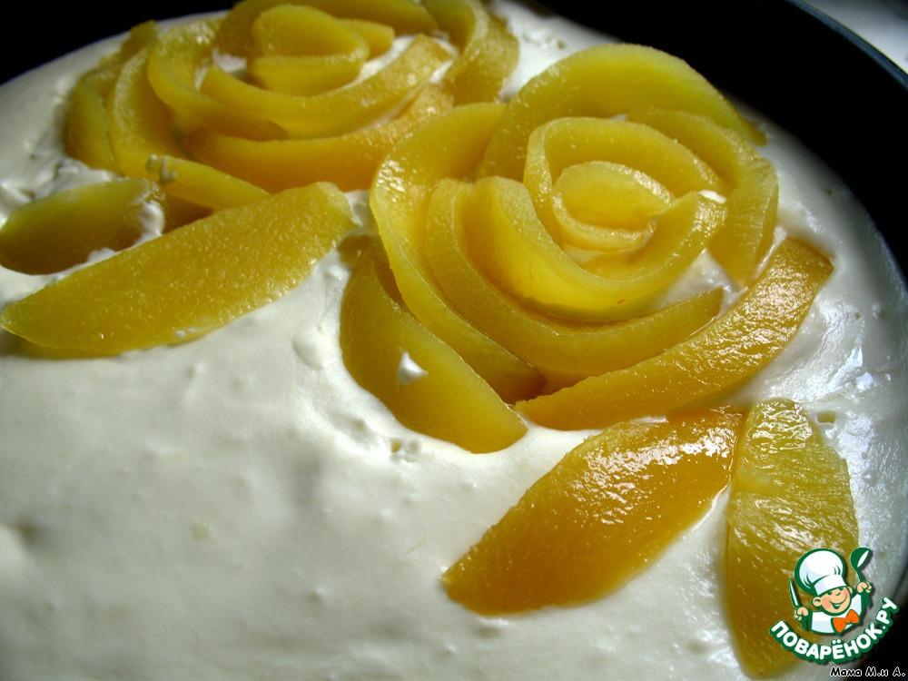 Чизкейк из персика и белого шоколада