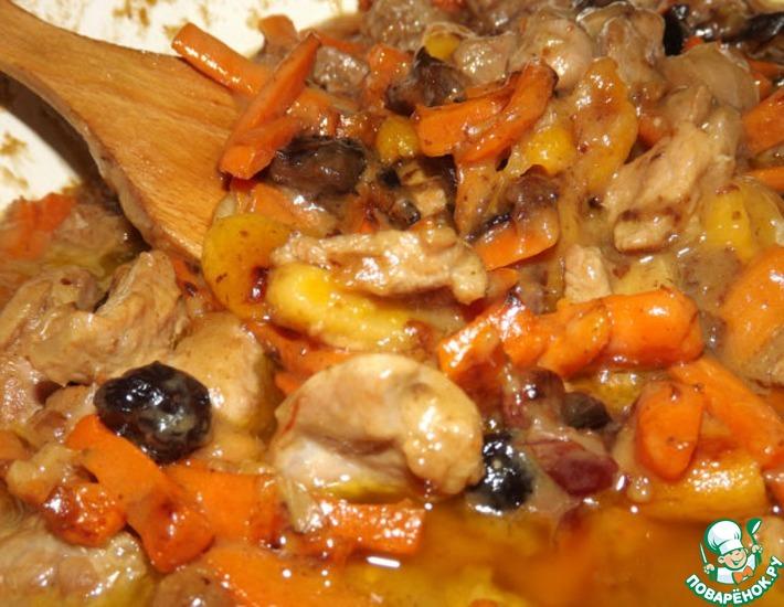 Рецепт: Цимес мясной по рецепту тети Двойры из Одессы