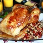 Цыпленок, фаршированный фасолью от Гордона Рамзи