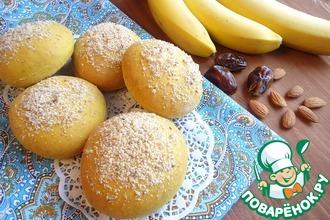 Рецепт: Иранские постные булочки с бананово-финиковой начинкой