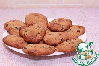 Рецепт: Печенье с шоколадом и черносливом