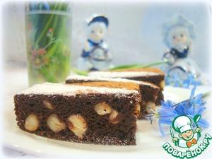 Рецепт: Свекольно-яблочные шоколадные брауни с кешью