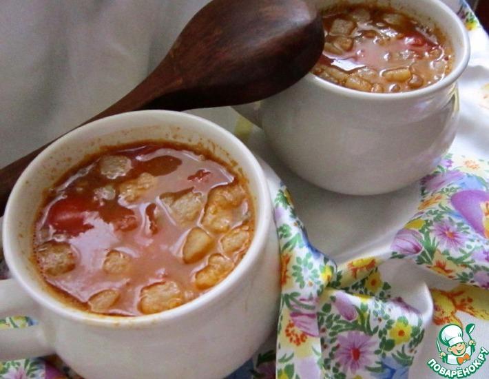 Рецепт: Рисовый суп с чечевицей