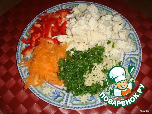 Салат сырая цветная капуста