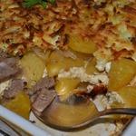 Запеченный картофель с вином и сыром