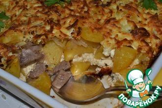 Рецепт: Запеченный картофель с вином и сыром