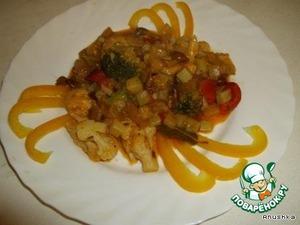 Подавать как самостоятельное блюдо или с рисом или с макаронами.