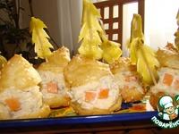 Закуска Новогодняя деревня ингредиенты