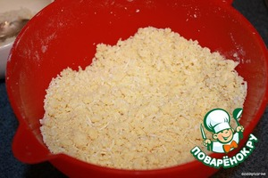 """Mix all of the dry composite base, grind with a soft oil to condition """"crumbs""""."""