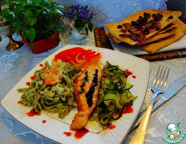 Рецепт: Лосось по-средиземноморски