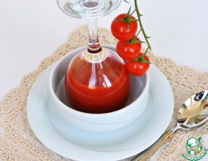 Рецепт: Холодный томатный суп