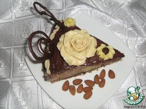 Тортик получается очень сытным и очень шоколадным. даже я, большая любительница тортов, съела один кусочек.   Можно сделать двойную порцию суфле, тогда тортик будет еще выше и красивее