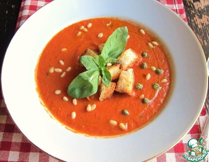 Рецепт: Томатный суп Панцанелла
