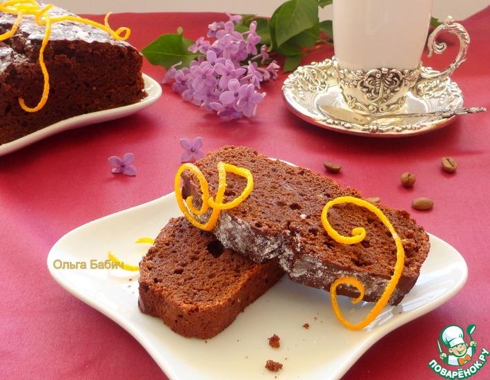 Рецепт: Шоколадно-яблочный пирог