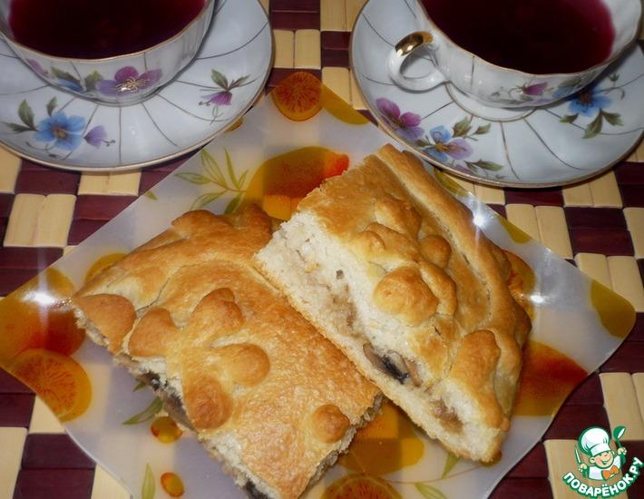 Рецепт: Пирог с рисом и грибами
