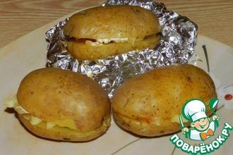 Рецепт: Картофель, запечённый с салом