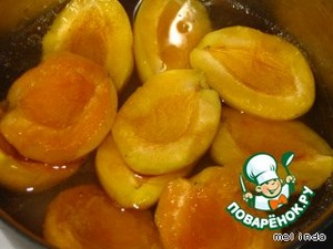 Add apricots and boil until soft.Cool.