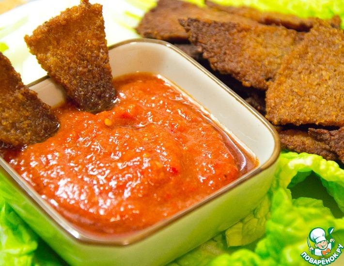 Рецепт: Гречишные чипсы а-ля Начос с соусом Сальса
