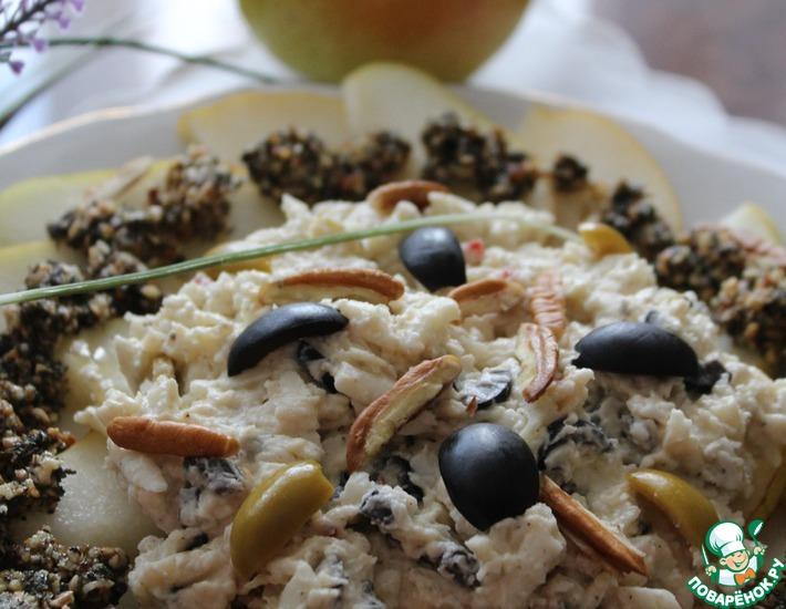 Рецепт: Карпаччо из козьего сыра с грушей