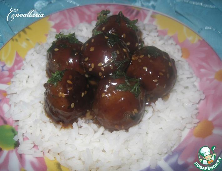 Рецепт: Мясные шарики Терияки