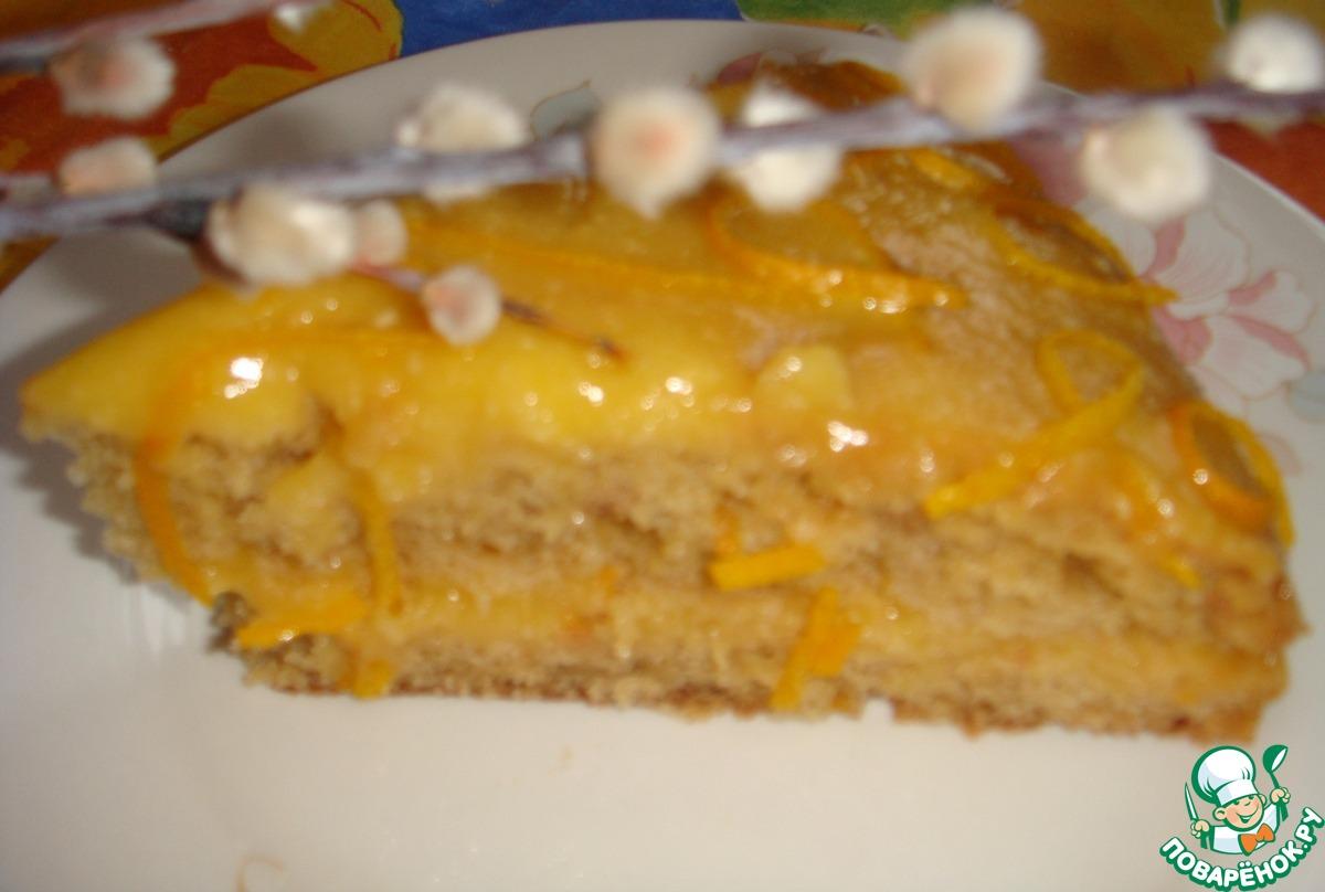 Постный апельсиновый торт