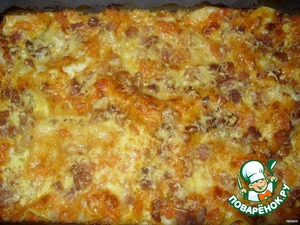 Лазанья с помидорами, сыром и беконом – кулинарный рецепт