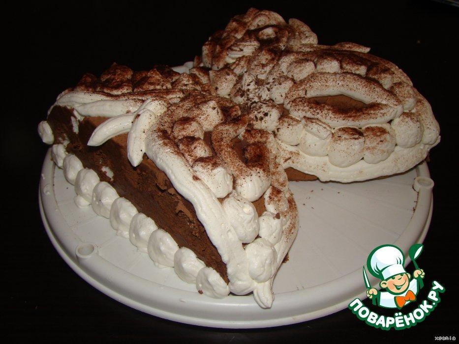 Шоколодно-сливочный торт № 2 . С безе