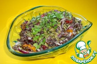 Рецепт: Салат из киноа с фасолью и красным луком