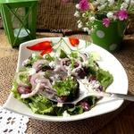 Тосканский салат из красной фасоли
