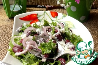 Рецепт: Тосканский салат из красной фасоли