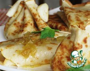 Блинчики с грушей - пошаговый рецепт приготовления с фото