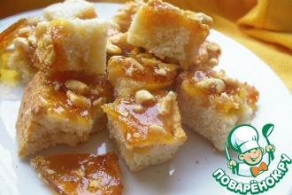 Рецепт: Манные кубики с арахисовым грильяжем